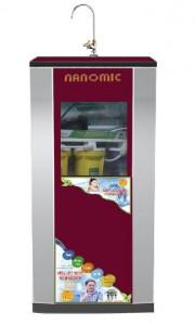 Máy lọc nước tinh khiết RO Nanomic kèm thùng kính cường lực